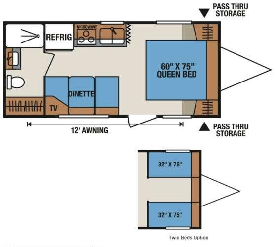 Floorplan - 2013 KZ Sportsmen S202RB