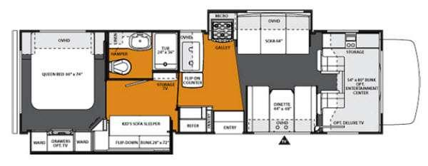 Floorplan - 2013 Forest River RV Forester 3171DS Ford
