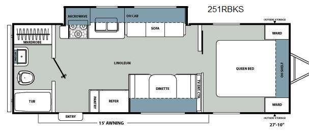 Floorplan - 2012 Coachmen RV Catalina Santara Series 251RBKS