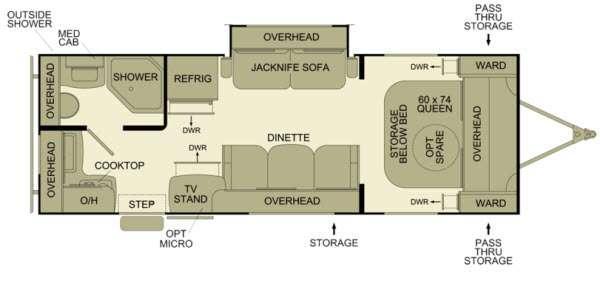 Floorplan - 2013 EverGreen RV Ascend A231RKB