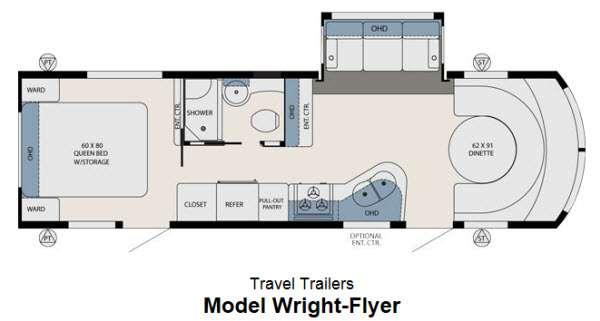Floorplan - 2013 Forest River RV Aviator Wright Flyer