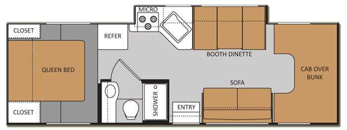 Floorplan - 2013 Thor Motor Coach Chateau 28Z