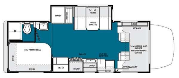 Floorplan - 2013 Forest River RV Solera 24S