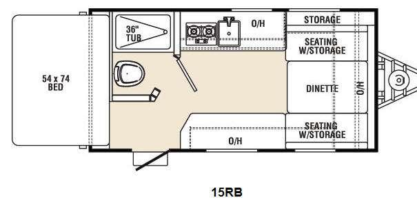 Floorplan - 2013 Coachmen RV Viking Ultra-Lite 15RB