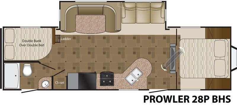 Floorplan - 2013 Heartland Prowler 28P BHS