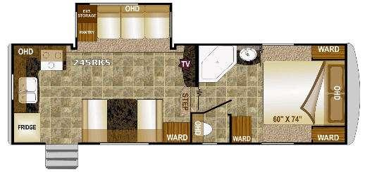 Floorplan - 2013 Fox Mountain 245RKS Fifth Wheel