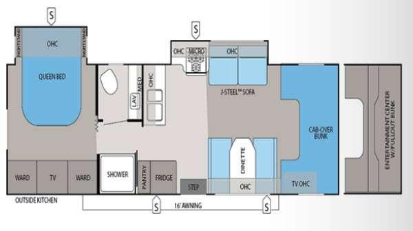 Floorplan - 2013 Jayco Greyhawk 29KS