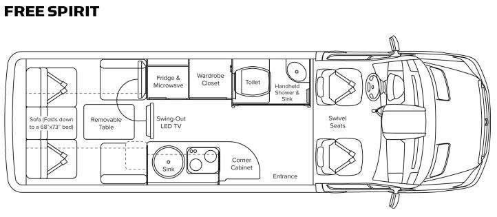 Floorplan - 2013 Leisure Travel Free Spirit Free Spirit