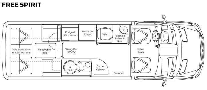 Floorplan - 2013 Leisure Travel Free Spirit Free Spirit
