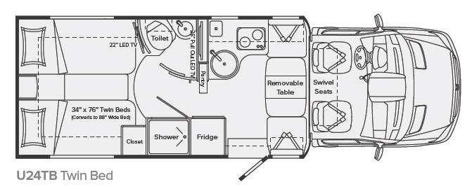 Floorplan - 2013 Leisure Travel Unity U24TB