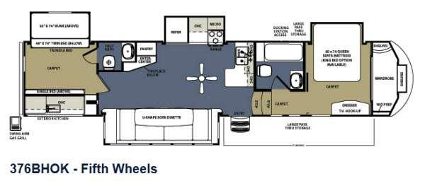 Floorplan - 2013 Forest River RV Sierra 376BHOK