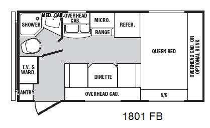 Floorplan - 2013 Winnebago Industries Towables Minnie 1801 FB