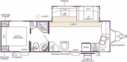 Floorplan - 2007 Forest River RV Wildwood LE 29FKSS