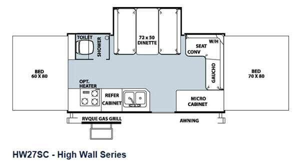Floorplan - 2013 Forest River RV Flagstaff High Wall HW27SC