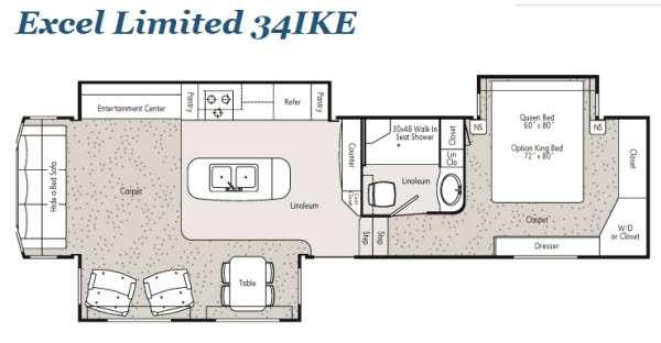 Floorplan - 2013 Peterson Excel Limited 34IKE