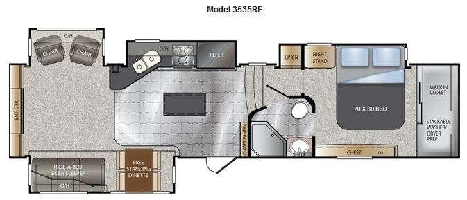Floorplan - 2013 Keystone RV Alpine 3535RE
