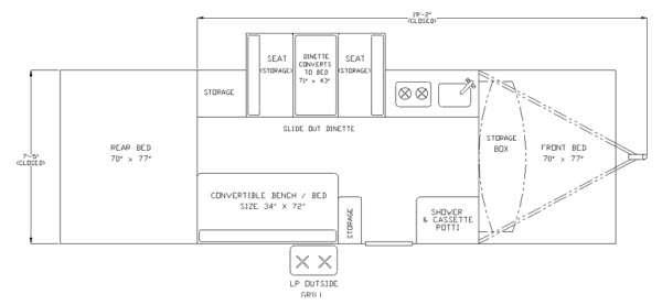 Floorplan - 2013 Columbia Northwest Somerset Camping Trailers Utah
