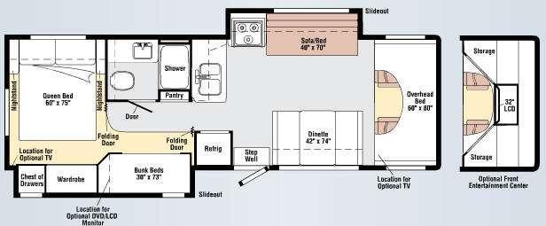 Floorplan - 2011 Winnebago Chalet 31J