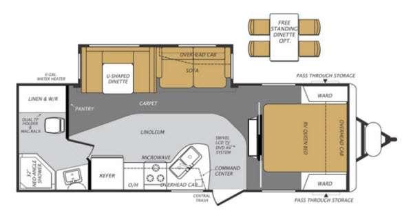 Floorplan - 2013 Forest River RV Wildcat Maxx 26FBS