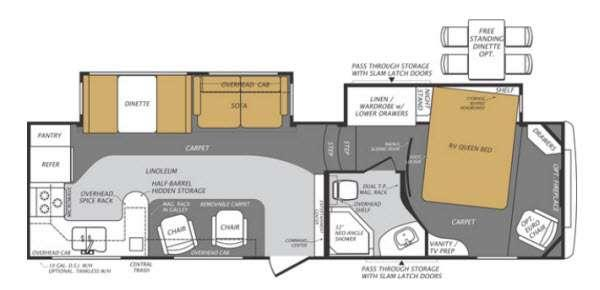 Floorplan - 2013 Forest River RV Wildcat Maxx 322RK