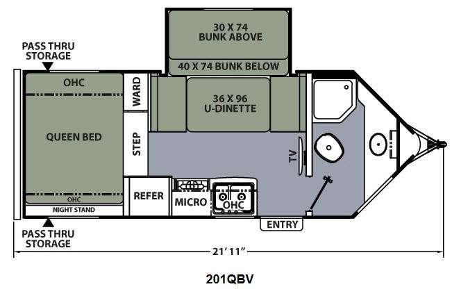 Apex Ultra-Lite 201QBV Floorplan