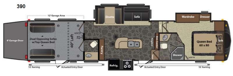 Floorplan - 2013 Keystone RV Fuzion 390
