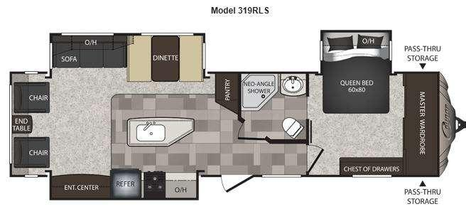 Cougar High Country 319RLS Floorplan