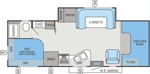 Floorplan - 2013 Jayco Redhawk 26XS