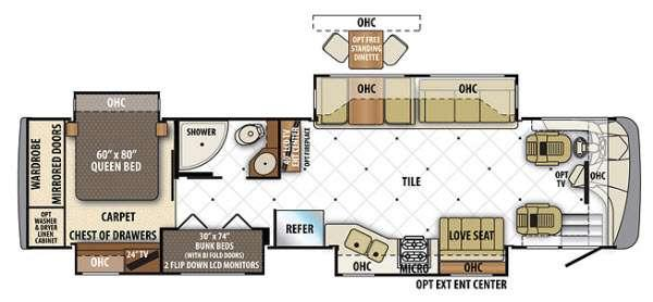 Floorplan - 2013 Forest River RV Berkshire 390BH