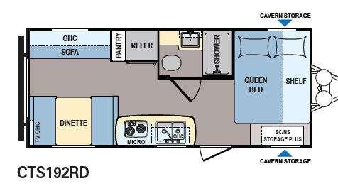 Floorplan - 2013 Dutchmen RV Coleman Expedition CTS192RD