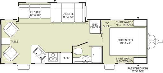 Floorplan - 2006 Fleetwood RV Wilderness 260RLS