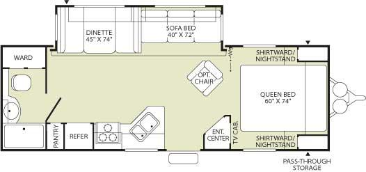 Floorplan - 2006 Fleetwood RV Wilderness 270FQS