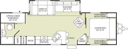 Floorplan - 2006 Fleetwood RV Wilderness 300FQS