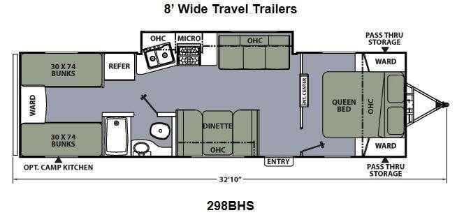 Floorplan - 2013 Coachmen RV Apex Ultra-Lite 298BHS