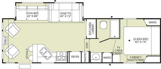 Terry Quantum 285RLS Floorplan