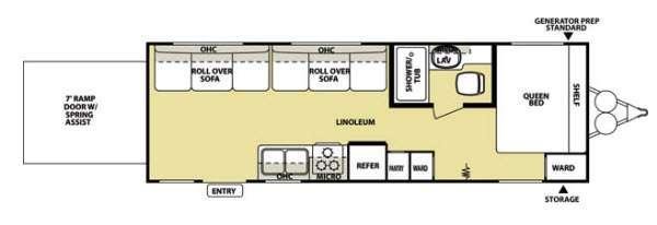 Floorplan - 2013 Forest River RV Salem Sport 24SRV