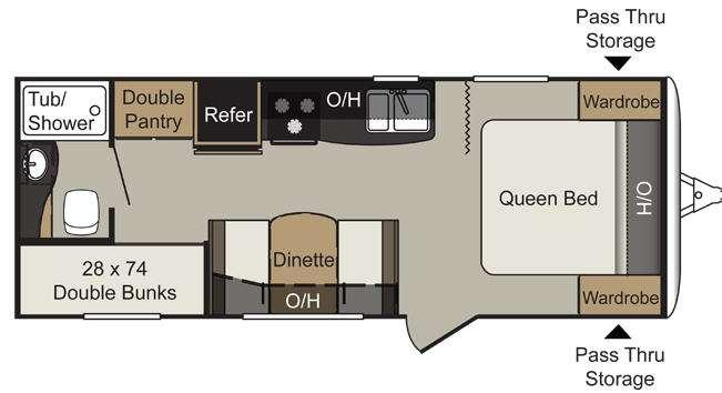 Floorplan - 2013 Keystone RV Passport 238ML Express