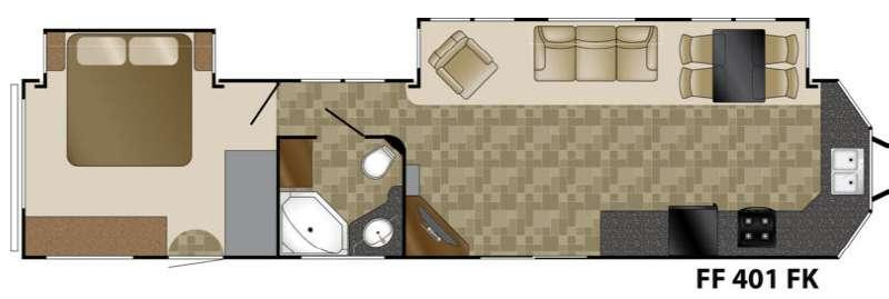 Floorplan - 2014 Heartland Fairfield 401FK