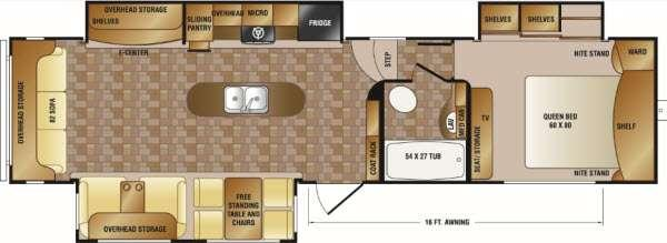 Floorplan - 2013 CrossRoads RV Cruiser CF34SS
