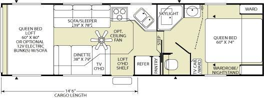 Floorplan - 2006 Fleetwood RV GearBox S4 295FS