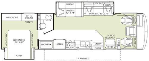 Floorplan - 2007 Fleetwood RV Bounder 32W