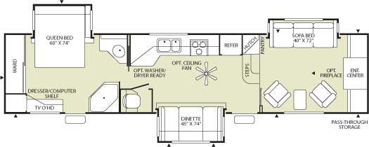 Floorplan - 2006 Fleetwood RV Wilderness Advantage AX6 365FLTS