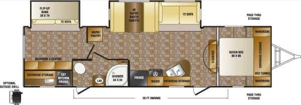 Floorplan - 2013 CrossRoads RV Sunset Trail Reserve ST32BH