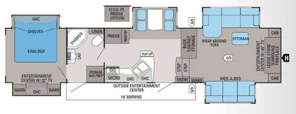 Floorplan - 2013 Jayco Pinnacle 38FLFS
