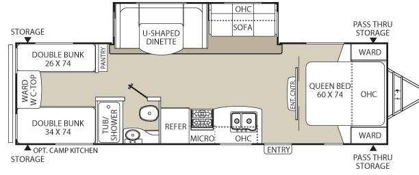 Floorplan - 2013 Coachmen RV Freedom Express 29SE