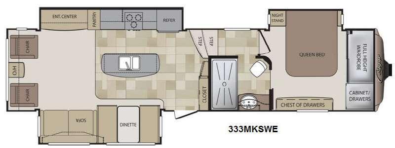 Floorplan - 2013 Keystone RV Cougar 333MKSWE