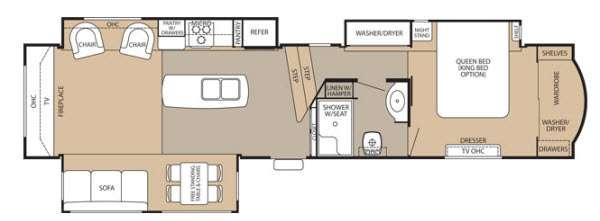 Floorplan - 2013 Forest River RV Cedar Creek 38RE