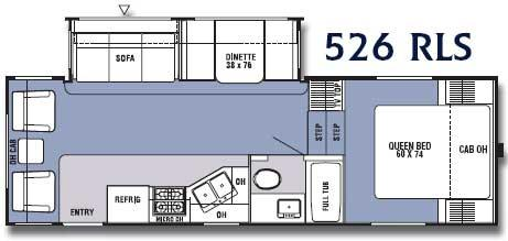 Floorplan - 2006 Coachmen RV Spirit of America 526 RLS
