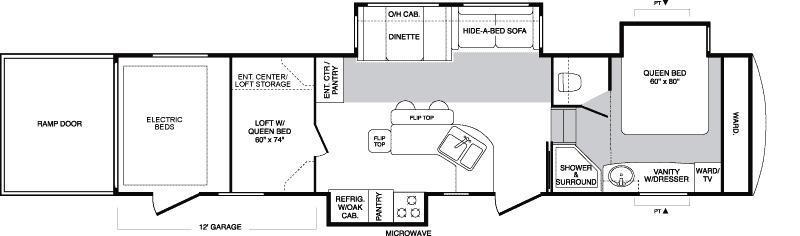 Floorplan - 2007 Keystone RV Raptor 3712TS