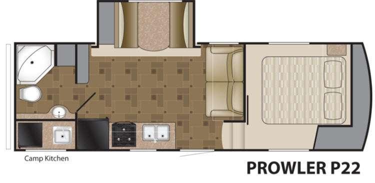 Floorplan - 2013 Heartland Prowler P22